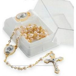 """Set chapelet + médaille """"communion"""" dans un écrin"""