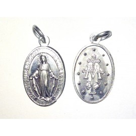 Médaille Miraculeuse (Notre Dame de la rue du Bac, Paris), ovale. 2,2 cm.