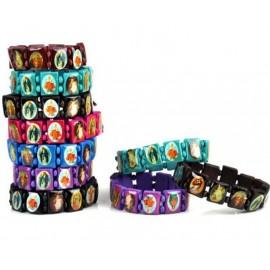 """Bracelet """"des Saints"""", bois, divers coloris"""