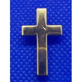 Épinglette Croix - couleur or - 2,4 x 1,4 cm