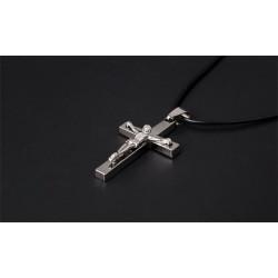 Croix pendentif - acier -...