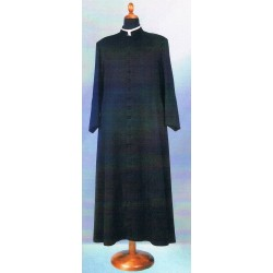 Soutane romaine noire en laine 255 gr.
