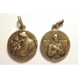 Saint Antoine et Saint François (métal) 1.5 cm
