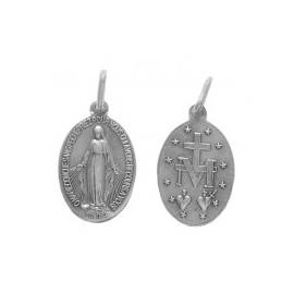 Médaille Miraculeuse (Notre Dame de la rue du Bac, Paris), ovale. 1,8 cm.