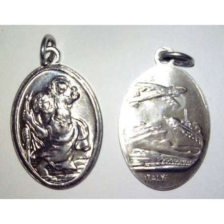 Médaille Saint Christophe, ovale. 2,2 cm.