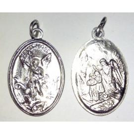 Médaille Saint Michel, ovale. 2,2 cm.