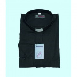 Chemise col clergy (100% coton)