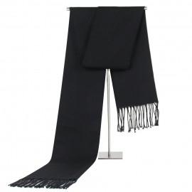 Écharpe noire - imitation cachemire - 180 x 35 cm